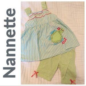 Nannette Girls Seersucker Outfit
